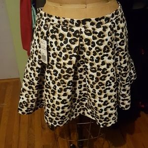 Forever 21 Leopard Skirt Size 29 NWT